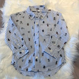 NWOT Disney & Gap button down w/characters, 3T